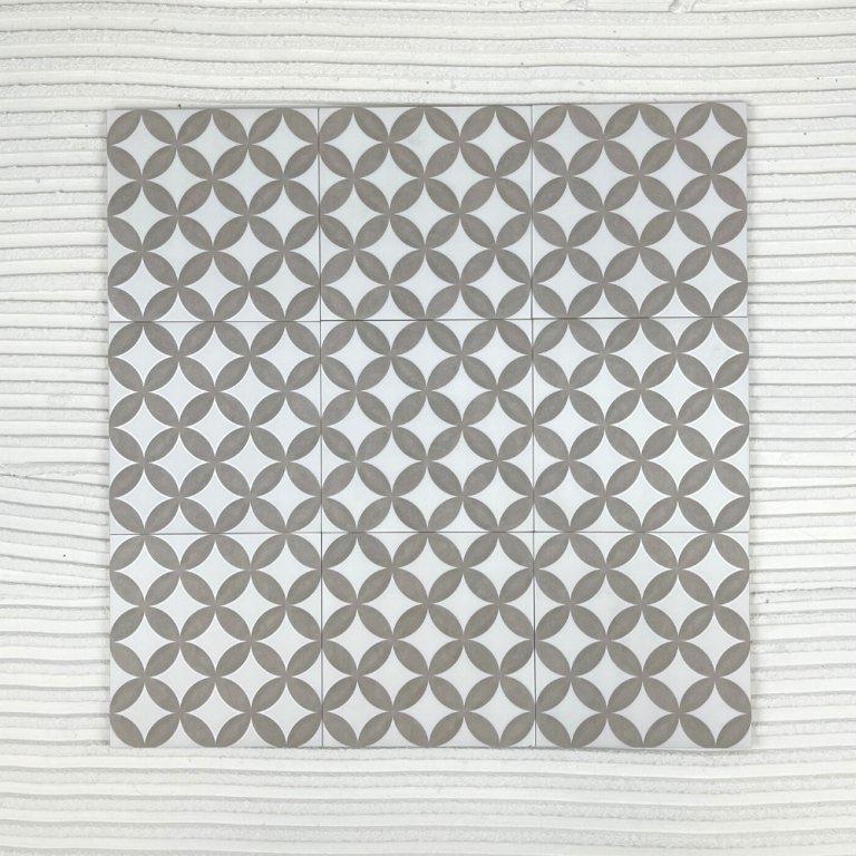 CIRKEL Taupe 200x200 tile